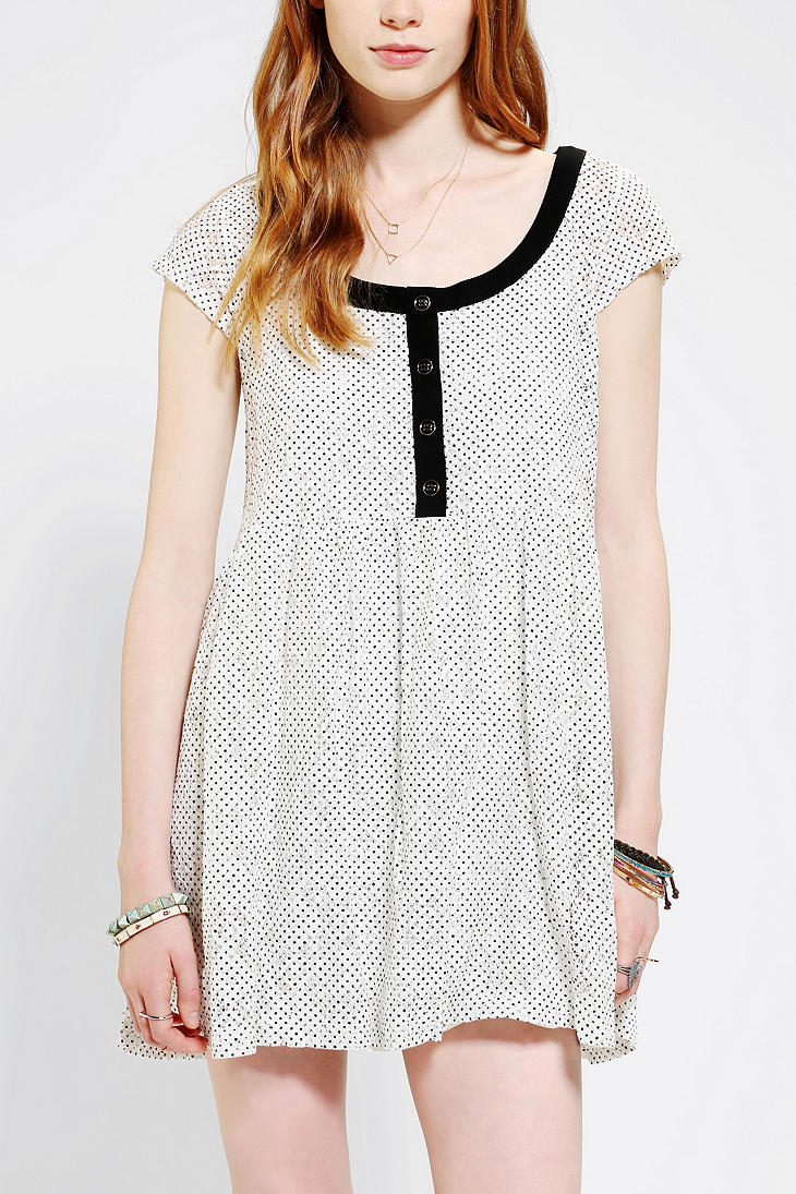Urban Outfitters Cooperative Coco Lace Babydoll Dress In