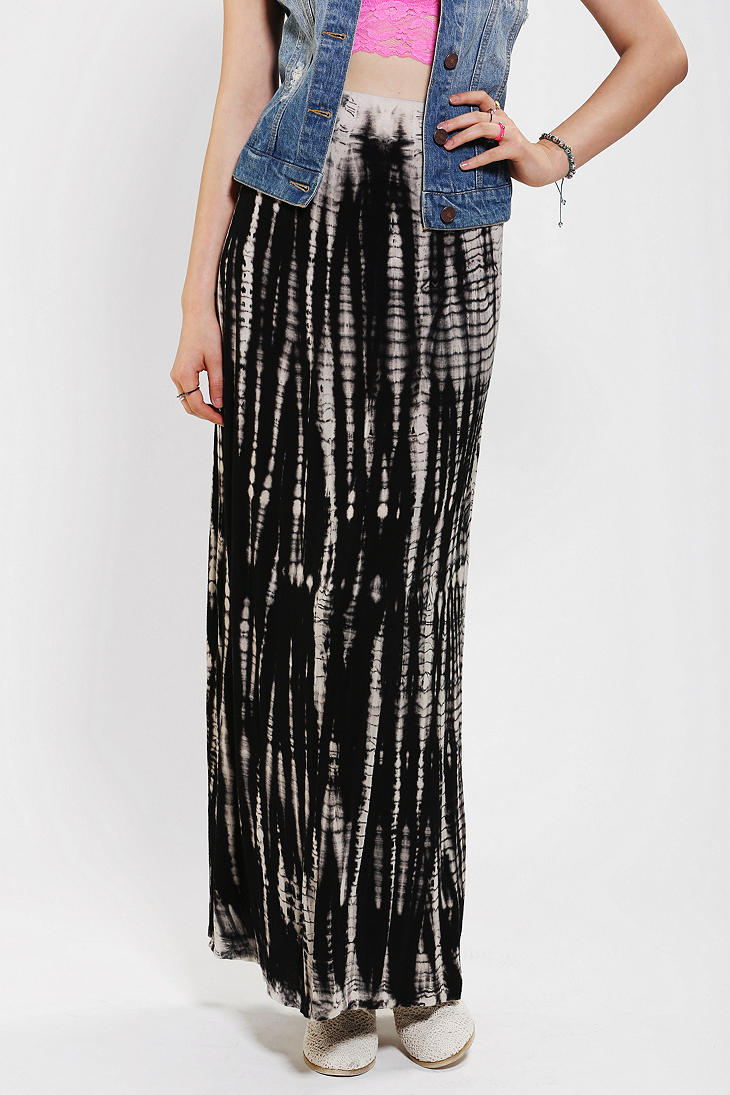 Urban Outfitters Staring At Stars Knit Tie Dye Maxi Skirt