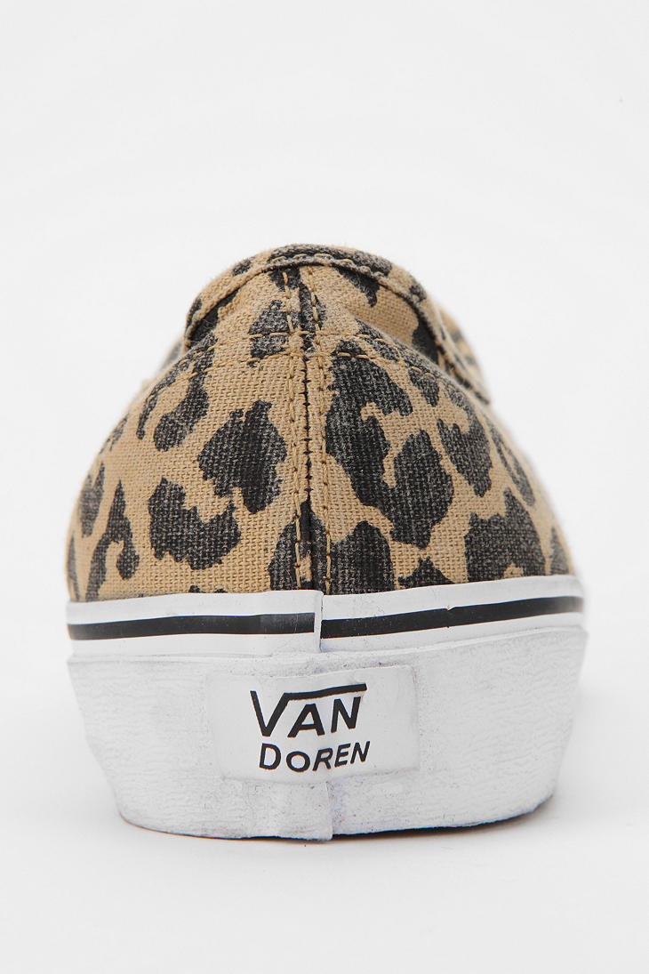 Lyst - Urban Outfitters Vans Authentic Van Doren Leopard Print ... a3289b583