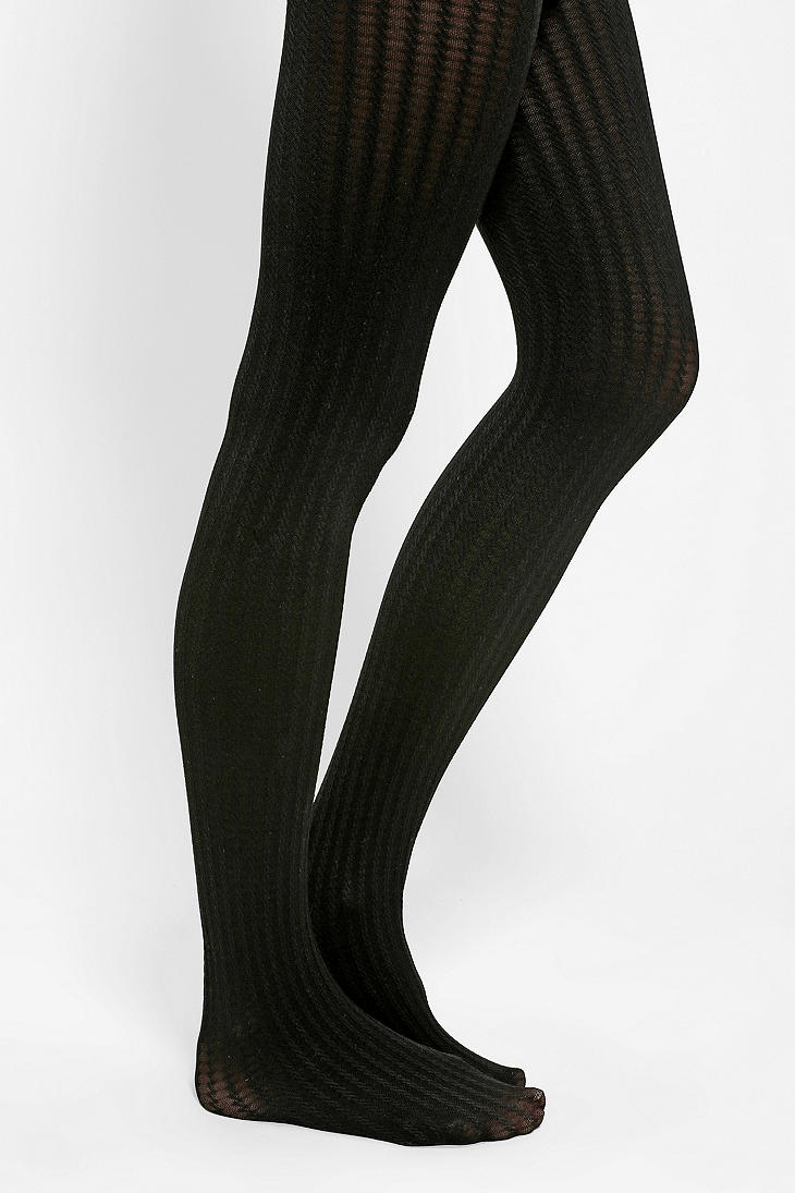 271bd99c260 Urban Outfitters Opaque Cable Tights in Black - Lyst