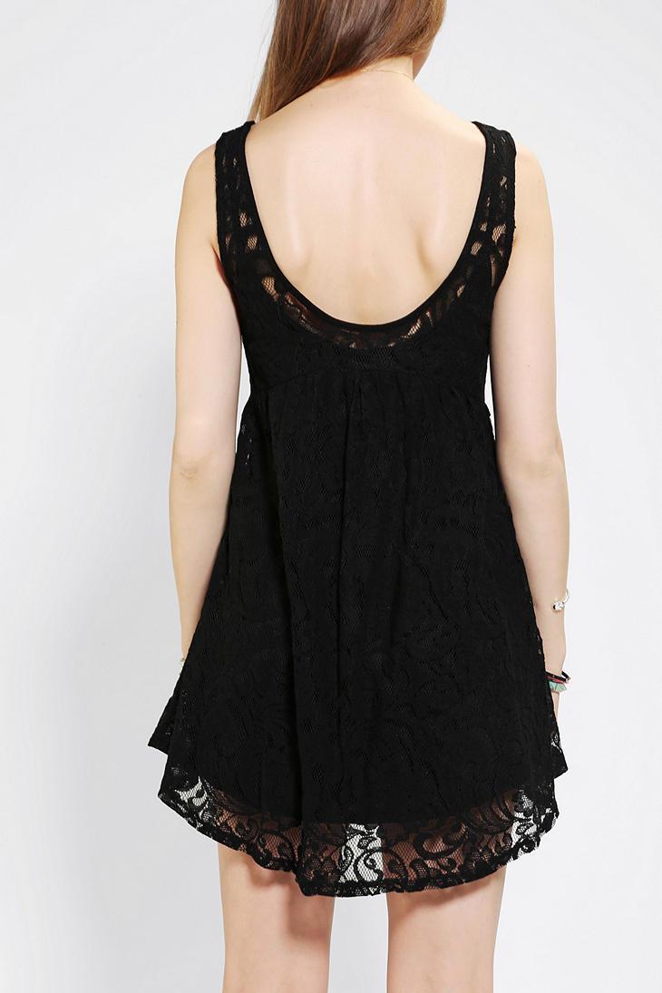 River Island Black Lace Babydoll Dress