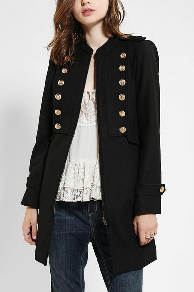 Urban Outfitters Sparkle Fade Forward March Wool Coat In