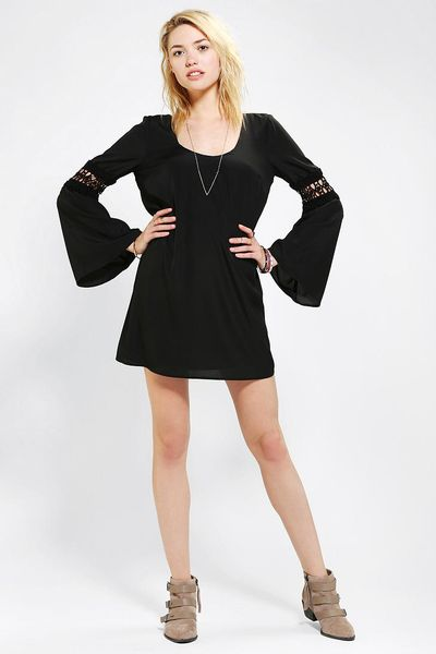 Urban Outfitters Long Sleeve Lace Dress In Black Lyst