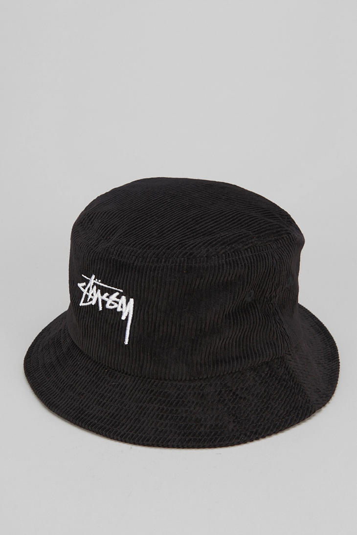 Urban Outfitters Stussy Cord Bucket Hat In Black For Men