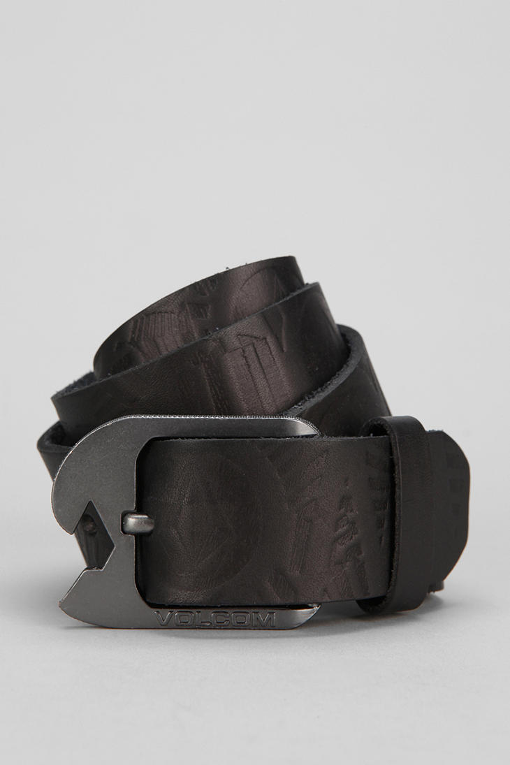 Lyst Urban Outfitters Volcom Volage Opener Belt In Black
