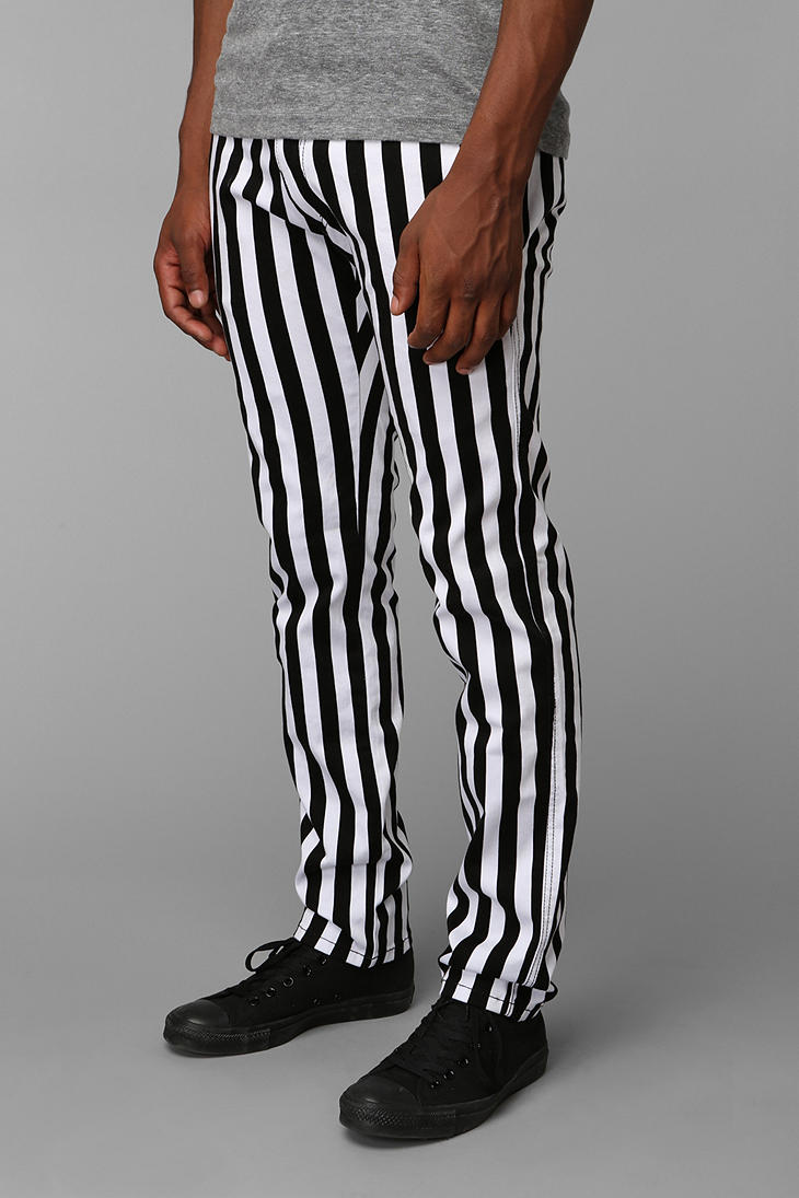 Lyst - Urban Outfitters Tripp NYC Stripe Top Cat Pants In White For Men