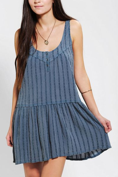 Urban Outfitters Ecote Daisy Tank Dress in Blue   Lyst
