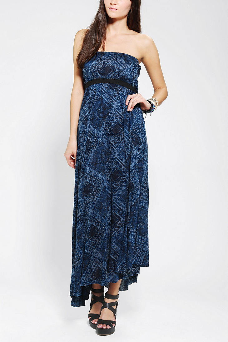 Urban outfitters Ecote Rosarita Maxi Dress in Blue   Lyst