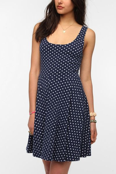 Urban Outfitters Sparkle Fade Knit Printed Skater Dress in Blue (BLUE MULTI) ...