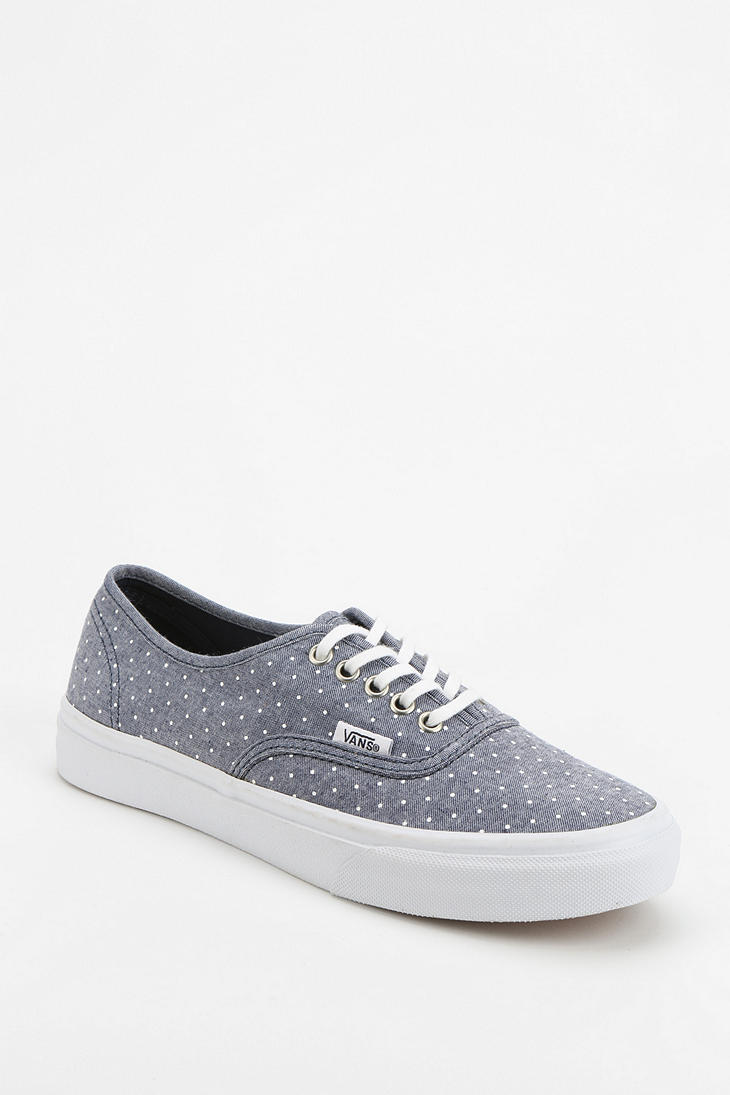 6ae5617c53f0ad Lyst - Urban Outfitters Vans Authentic Chambray Polka Dot Womens ...