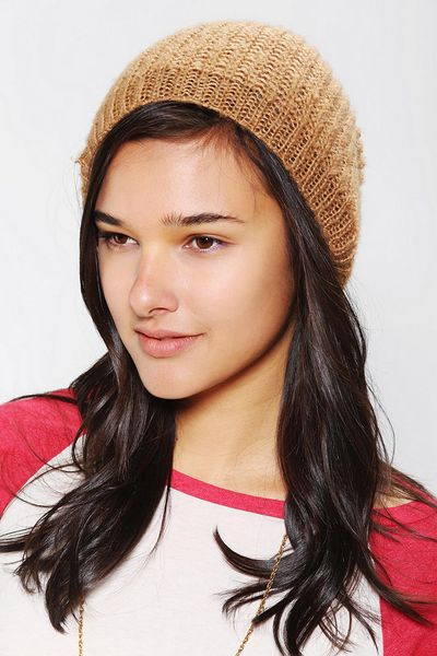 65b09776407 ... Bdg Lyst Brown Outfitters Beanie Slouchy Urban outfitters hats beanie  urban in Mouse Urban Black ...