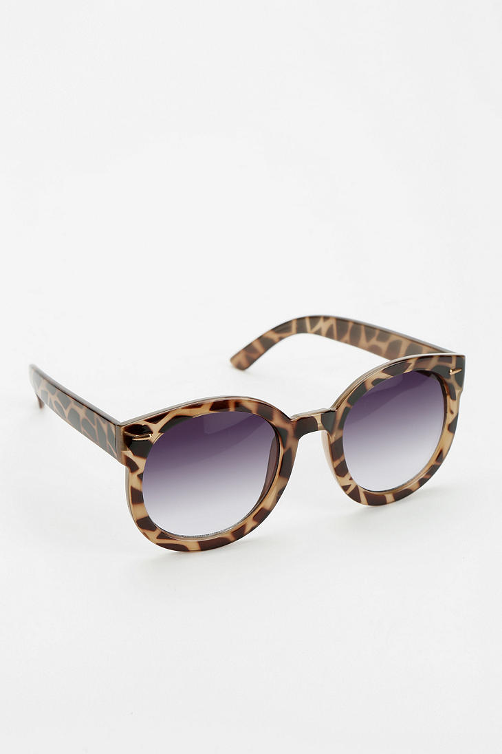 Glasses Frames Urban Outfitters : Urban Outfitters Emma Sunglasses in Animal (BROWN) Lyst