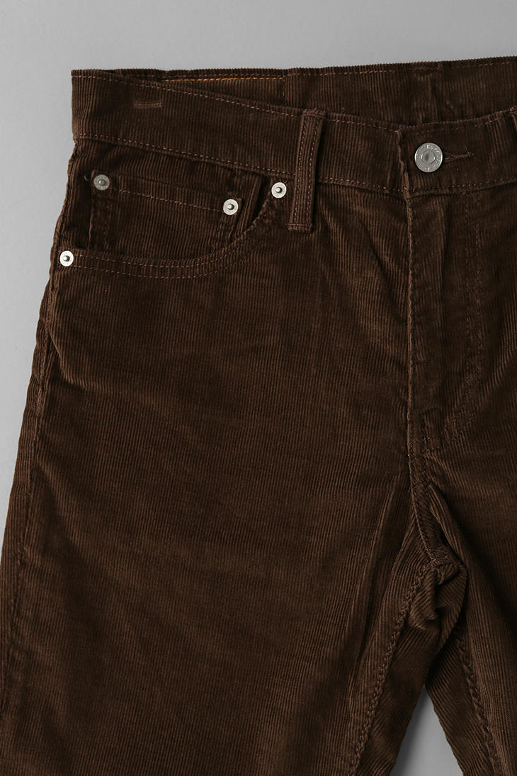 Lyst Urban Outfitters Levis 511 Corduroy Pant In Brown