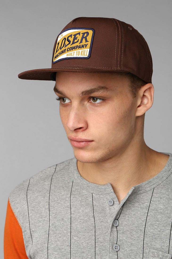27c62489c Urban Outfitters Brown Loser Machine Vasco Snapback Hat for men