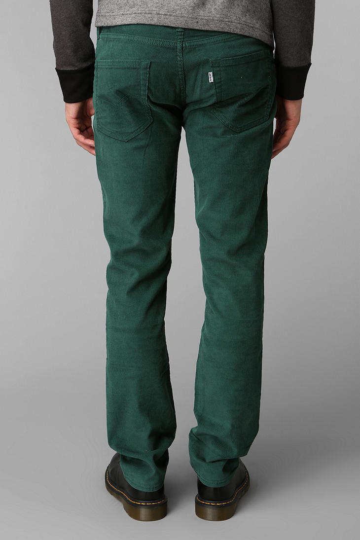 02a85da826e42f Urban Outfitters Levis 511 Corduroy Pant in Green for Men - Lyst