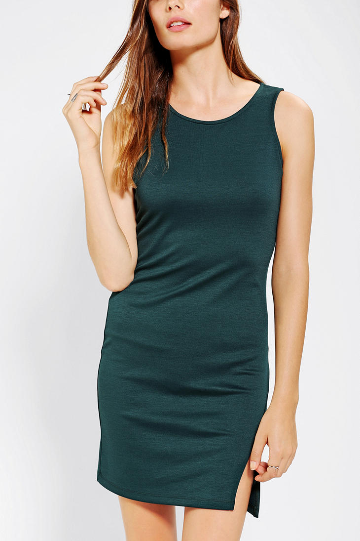 Urban Outfitters Sparkle Fade Asymmetrical Bodycon Mini