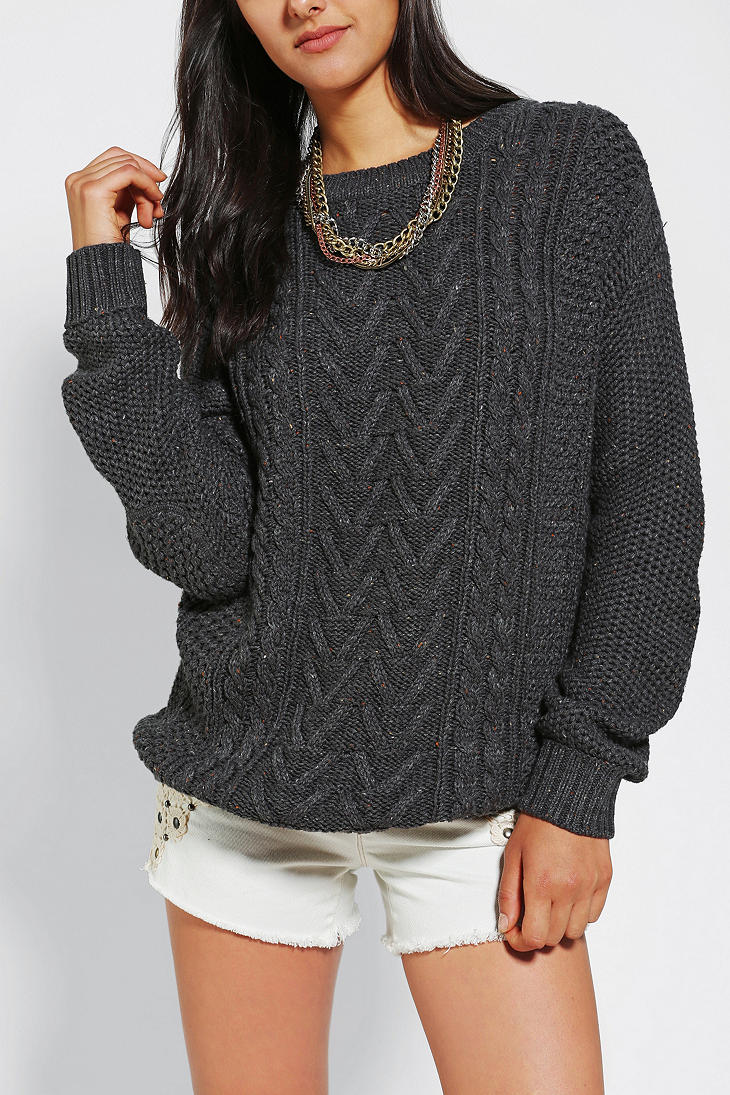 Bdg Fall For Cable knit Sweater