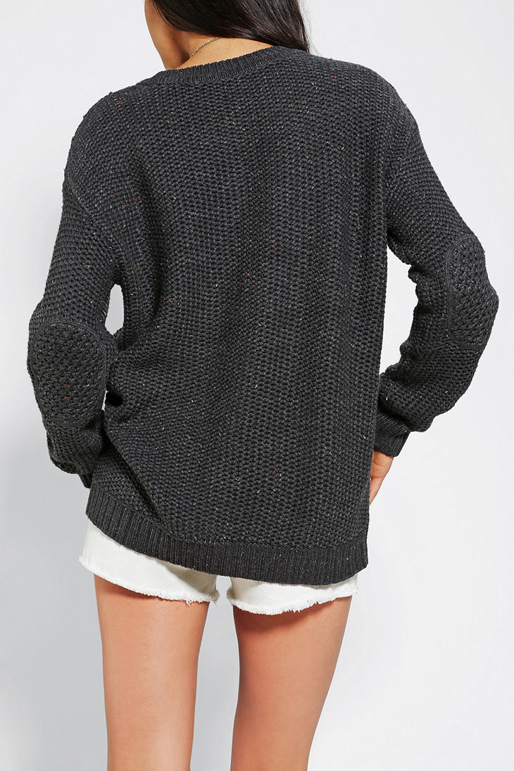 Urban outfitters Bdg Fall For Cable knit Sweater in Gray | Lyst