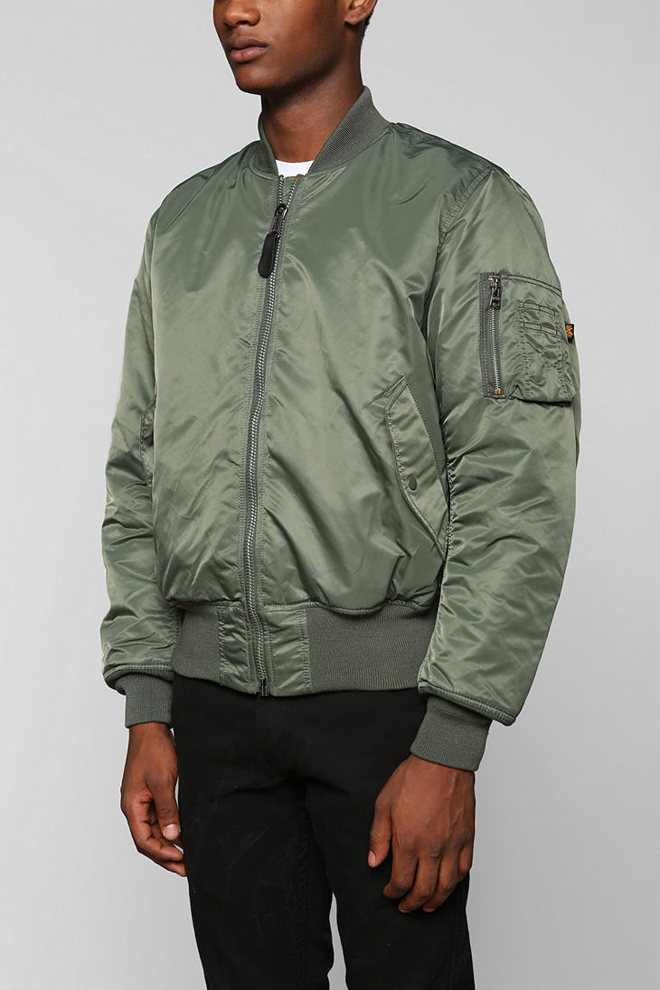 lyst urban outfitters alpha industries ma1 bomber jacket. Black Bedroom Furniture Sets. Home Design Ideas