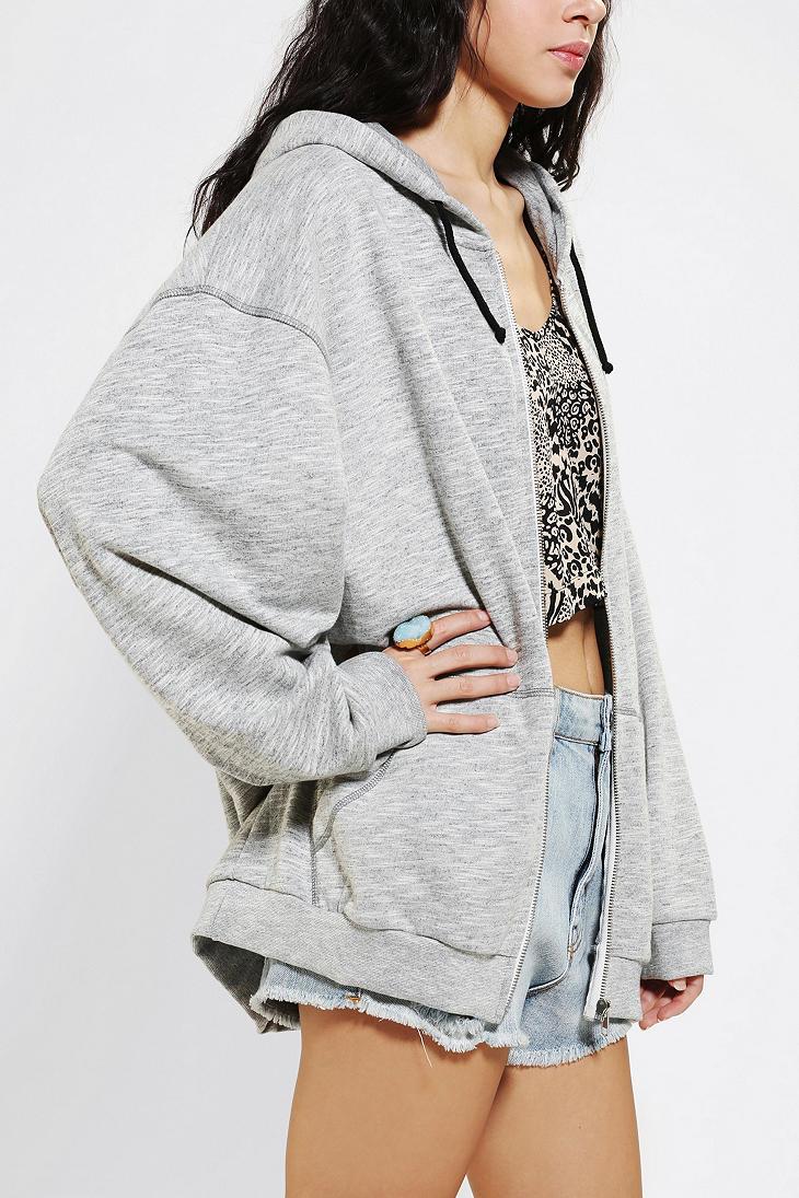 Urban outfitters Bdg Grinded Oversized Zipup Hoodie Sweatshirt in ...