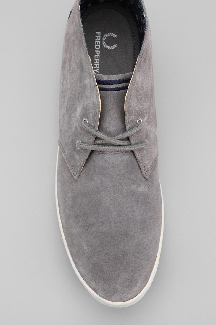 Urban Outfitters Fred Perry Byron Midtop Suede Shoe In