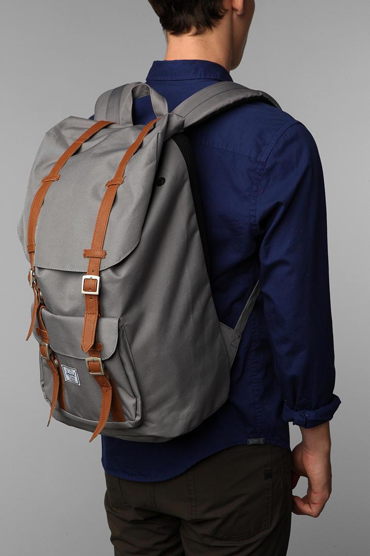 lyst herschel supply co little america backpack in gray. Black Bedroom Furniture Sets. Home Design Ideas