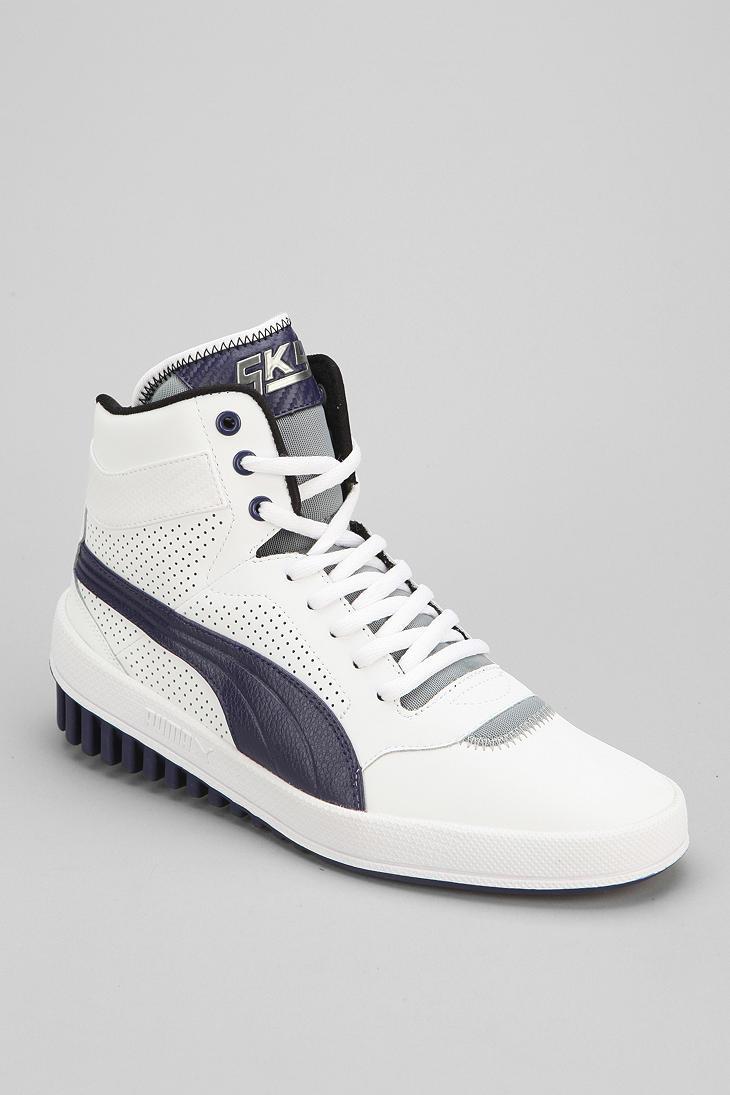 Lyst - Urban Outfitters Puma Sky Future Hightop Sneaker in White for Men 48e9dd862