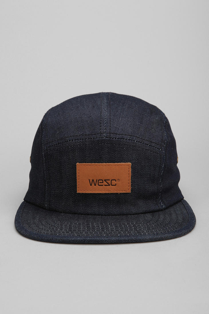 Lyst Urban Outfitters Wesc Denim 5panel Hat In Blue For Men