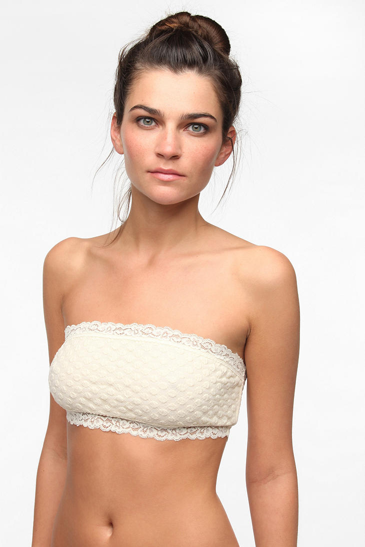 Kimchi blue Lily Lace Bandeau Bra in White | Lyst