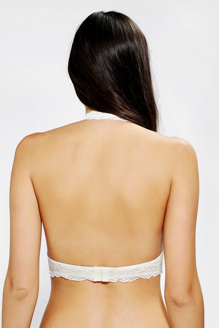 d0f7c457e4 Lyst - Pins And Needles Lace Halter Bra in White