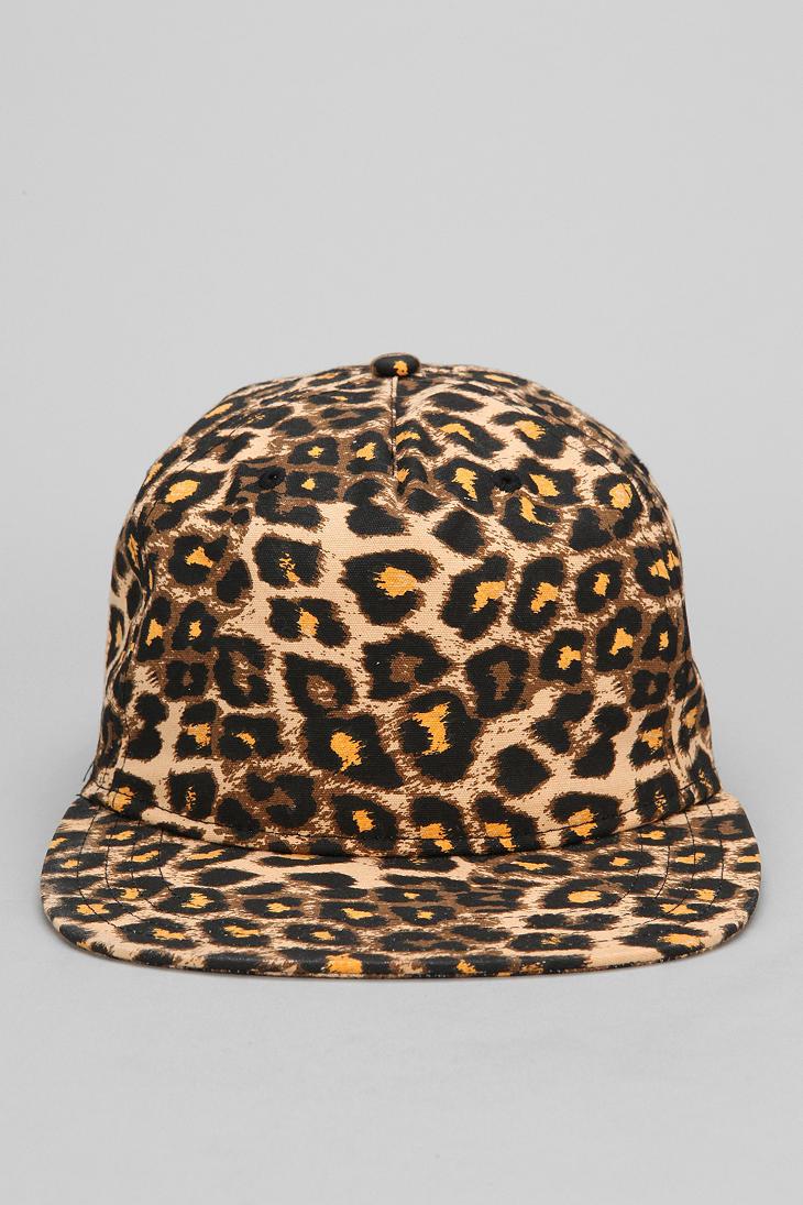 Lyst Urban Outfitters Vans Cheetah Snapback Hat In Brown