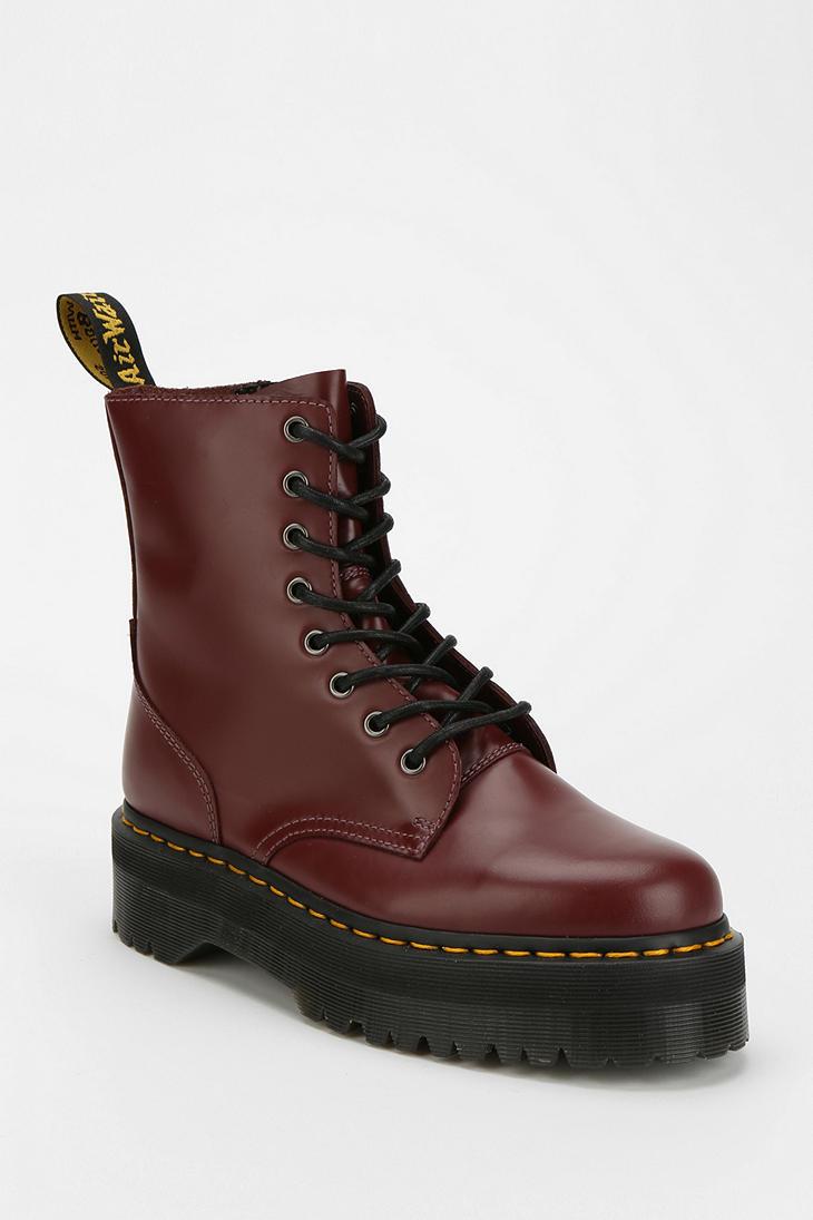Lyst Dr Martens Dr Martens Jadon 8eye Platform Boot In Red
