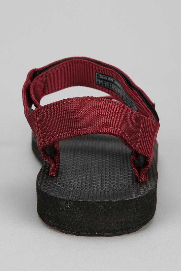 Urban Outfitters Teva Original Universal Sandal In Maroon