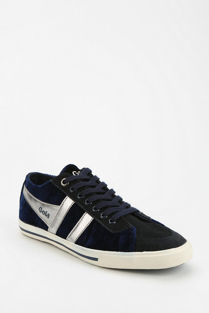 Urban Outfitters Gola Quota Velour Running Sneaker in Blue for Men (NAVY) | Lyst