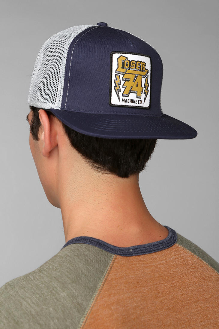30492196f Lyst - Urban Outfitters Loser Machine 74 Trucker Hat in Blue for Men
