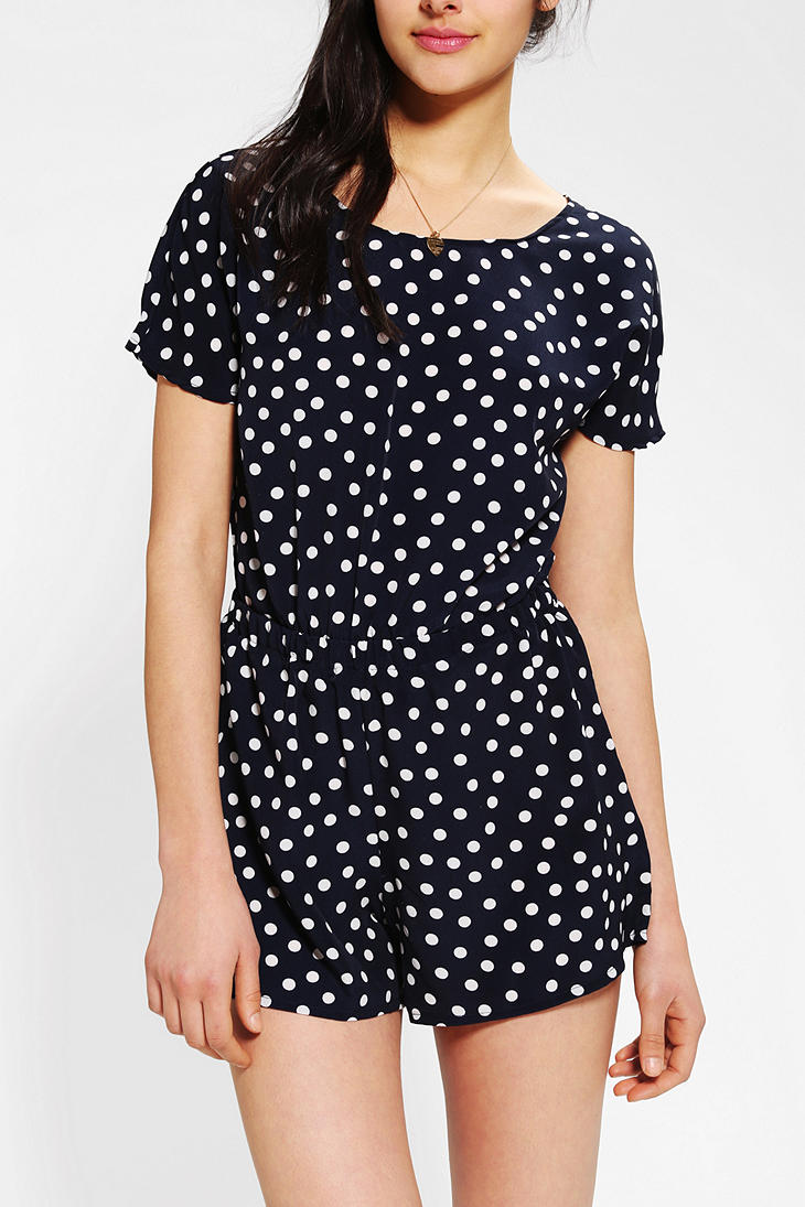 Urban outfitters One Only X Urban Renewal Open Back Romper ...