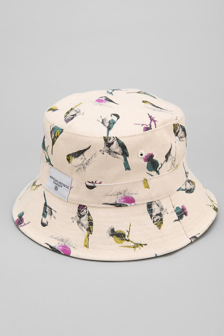 Lyst - Urban Outfitters Profound Aesthetic Birds Bucket Hat in White ... 0691b5a993e