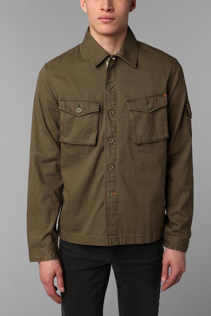 Safari Shirt Cognac Heels: Urban Outfitters Allson Safari Shirt Jacket In Natural For
