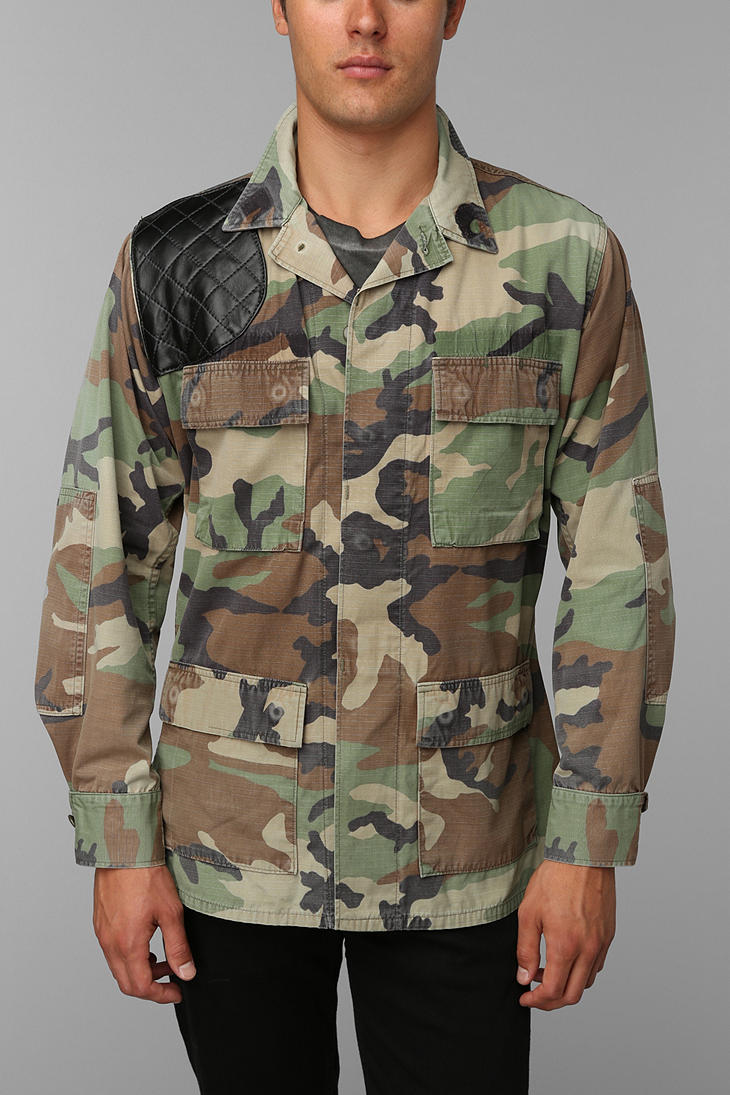 Urban Outfitters Faif X Urban Renewal Leatherpatch Camo Jacket in
