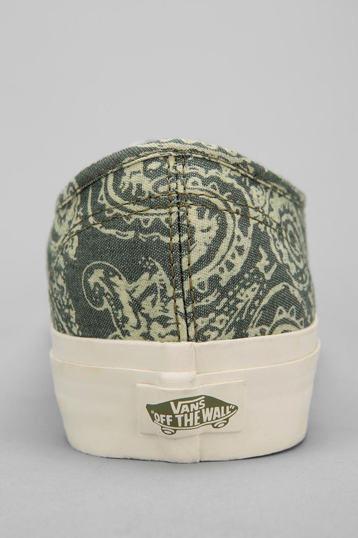 bff0fec734d9 Lyst - Urban Outfitters Vans Washed Paisley Authentic California ...