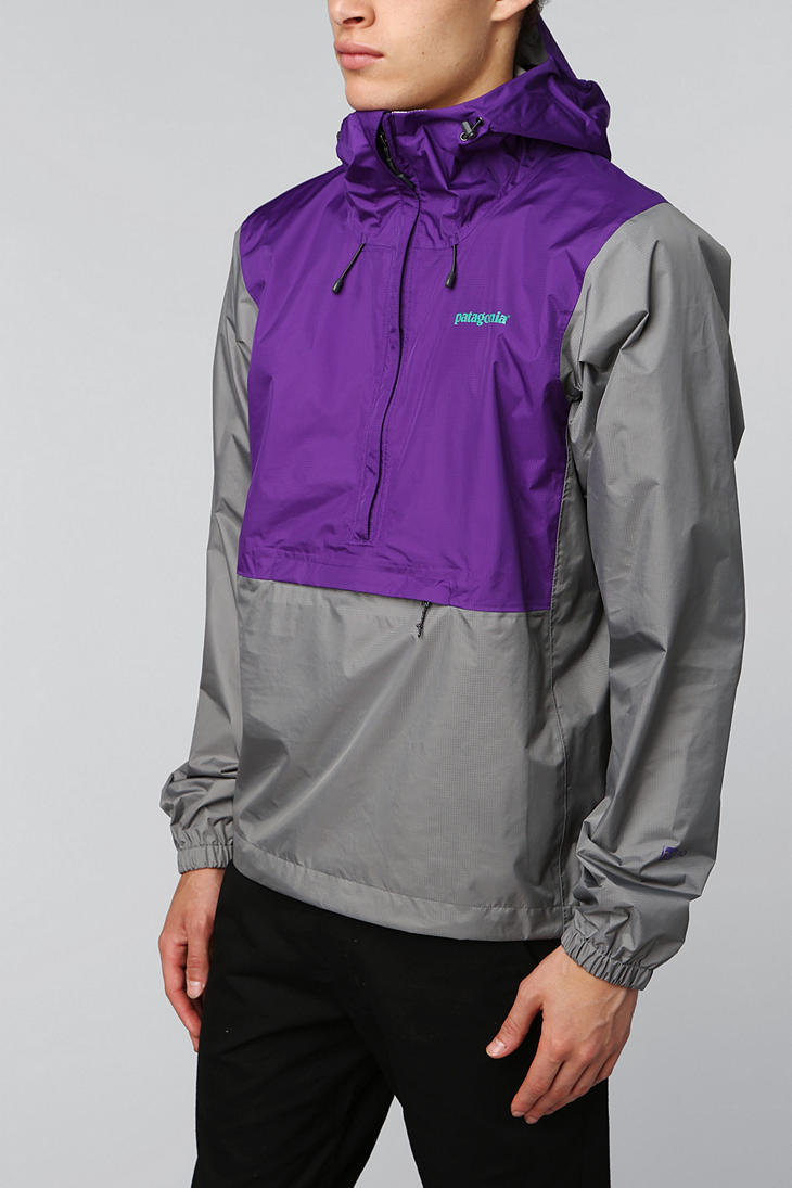 Patagonia Torrent Shell Pullover Jacket In Gray For Men Lyst