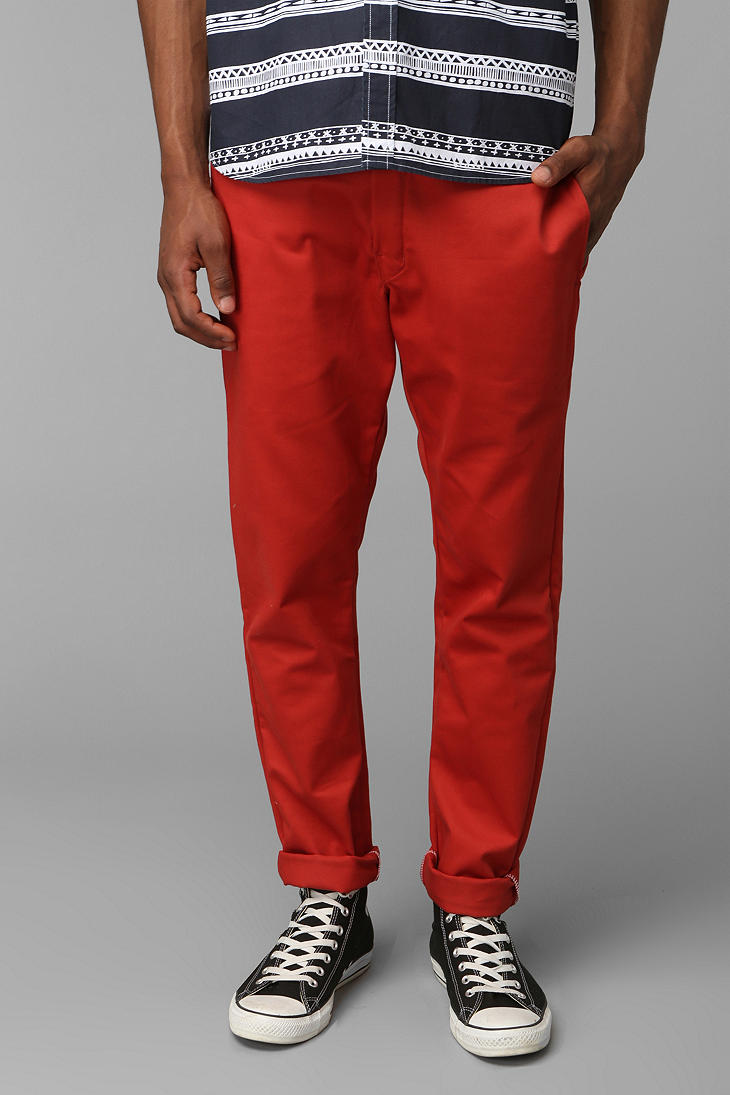 Dickies Skinny Straight Work Pant In Red For Men Lyst