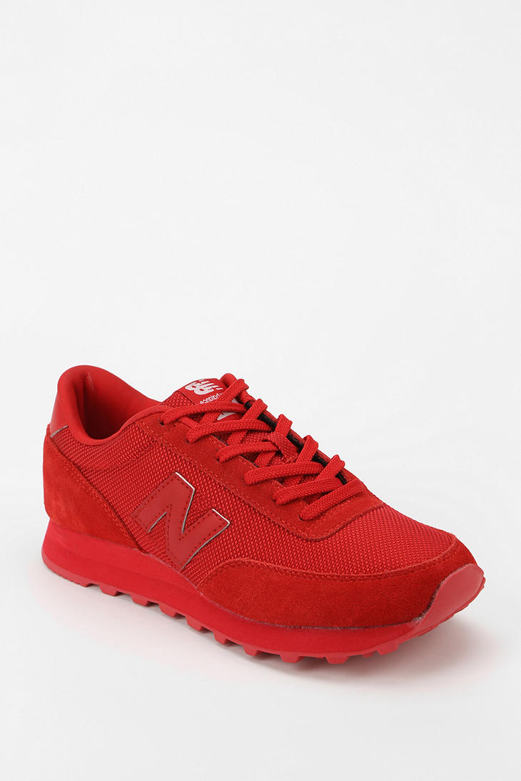 all red new balance shoes