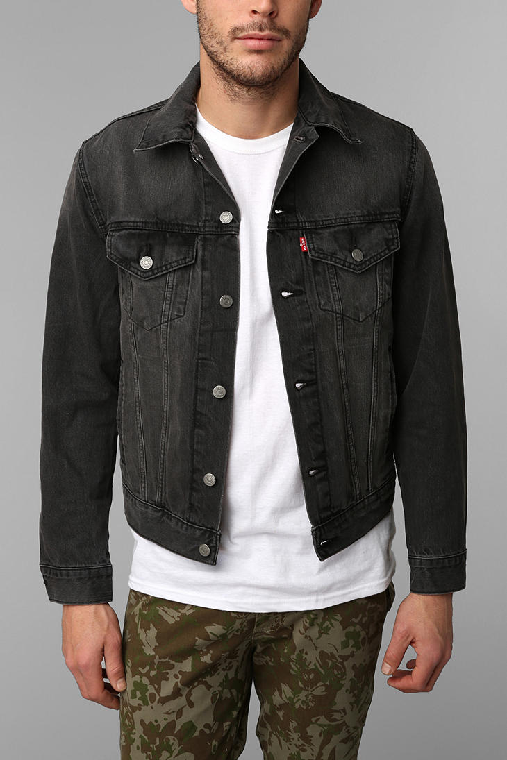 Levis black denim jacket canada