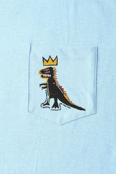 Urban Outfitters Junk Food Basquiat Dinosaur Pocket Tee in ...  Urban Outfitter...
