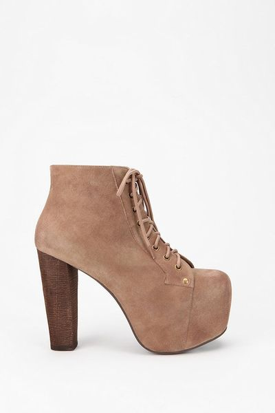 urban outfitters jeffrey campbell suede lita boot in brown taupe lyst. Black Bedroom Furniture Sets. Home Design Ideas