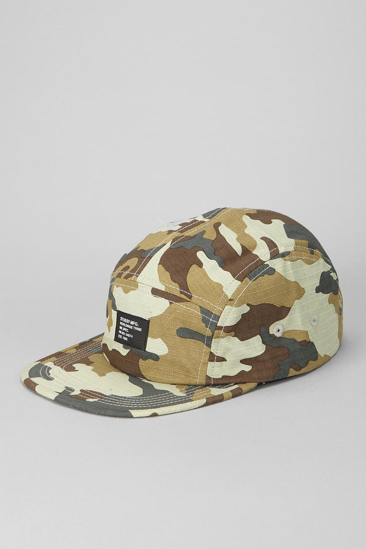 27e927cd9d2 Lyst - Urban Outfitters Stussy Camouflage Summer Camp 5panel Hat in ...