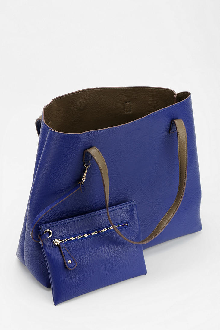 Urban Outfitters Reversible Vegan Leather Tote Bag In