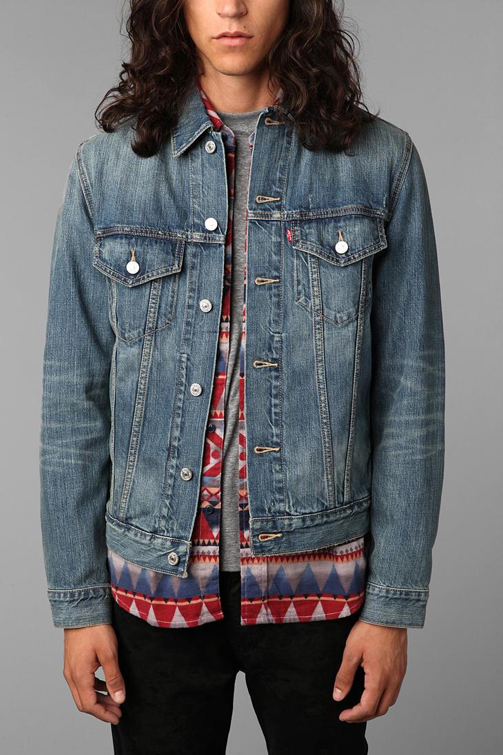 Urban outfitters Levis Ghost Denim Trucker Jacket in Blue for Men ...