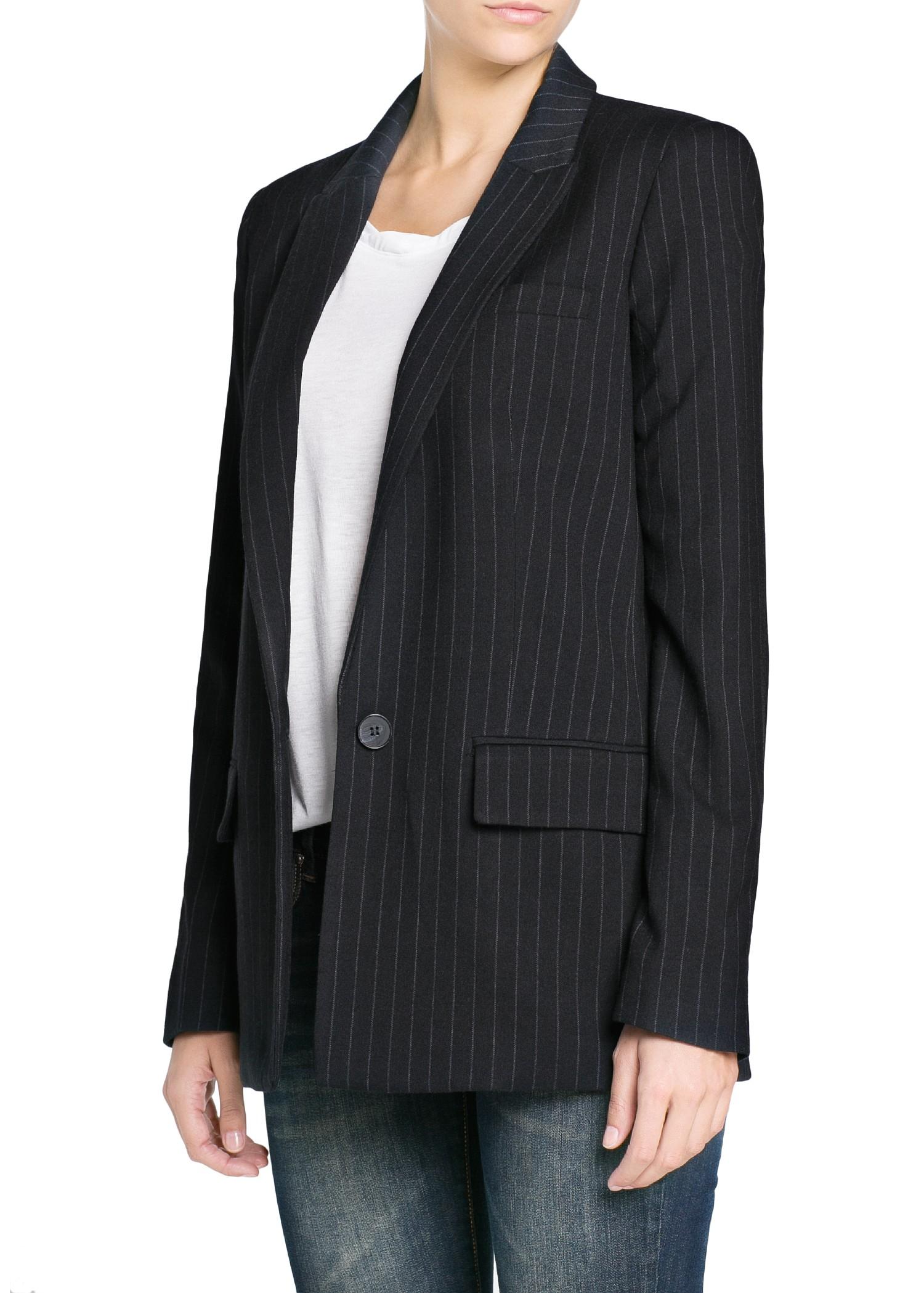 Pinstripe Blazer Black | na-kd.com
